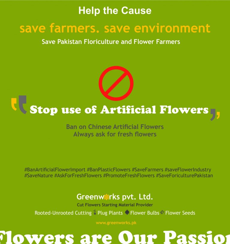 Ban Artificial Flowers